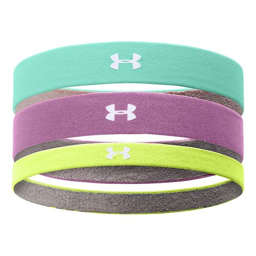 Womens Under Armour Armourgrip Multipack Headband Headwear - Crystal/Jellyfish