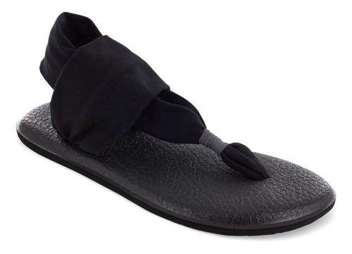 Womens Sanuk Yoga Sling 2 Sandals Shoe - Black/Black 10
