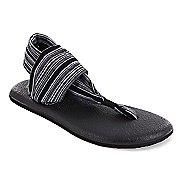 Womens Sanuk Yoga Sling 2 Sandals Shoe - Black/White 9