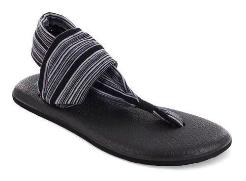 Womens Sanuk Yoga Sling 2 Sandals Shoe - Black/White 6