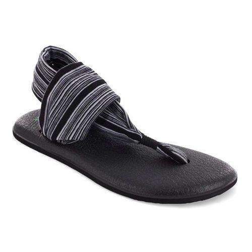 Womens Sanuk Yoga Sling 2 Sandals Shoe - Black/White 10