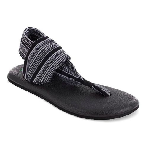 Womens Sanuk Yoga Sling 2 Sandals Shoe - Black/White 5