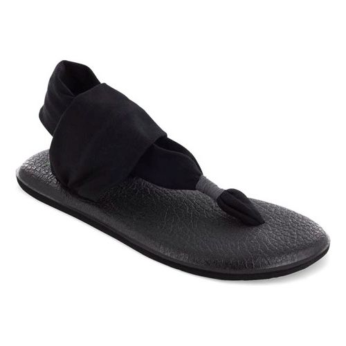 Womens Sanuk Yoga Sling 2 Sandals Shoe - Black/Black 6