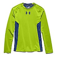 Under Armour Boys HeatGear Fitted Tee Long Sleeve No Zip Technical Tops
