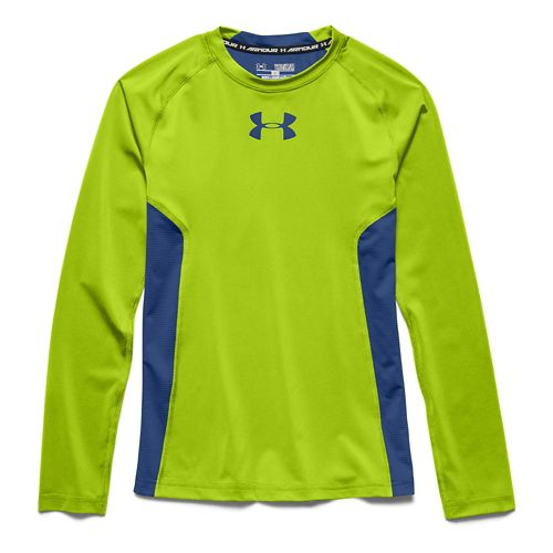 Under Armour Boys HeatGear Fitted Tee Long Sleeve No Zip Technical Tops - Velocity YXL ...