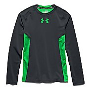 Kids Under Armour HeatGear Fitted Tee Long Sleeve No Zip Technical Tops