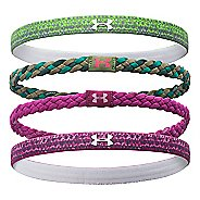 Womens Under Armour Graphic Braided Headband 4 Pack Headwear