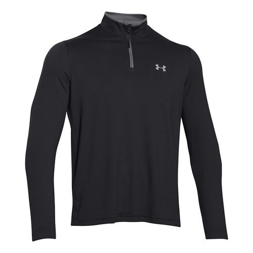 Mens Under Armour Coldgear Infrared 1/4 Zip Long Sleeve Half Zip Technical Tops - Black/Steel ...