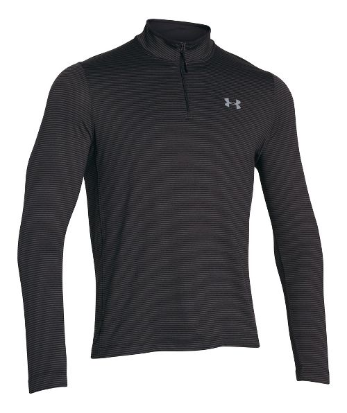 Mens Under Armour Coldgear Infrared 1/4 Zip Long Sleeve Half Zip Technical Tops - Black/Charcoal M