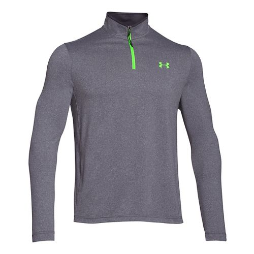 Mens Under Armour Coldgear Infrared 1/4 Zip Long Sleeve Half Zip Technical Tops - Stealth ...