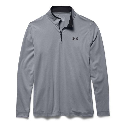 Mens Under Armour Coldgear Infrared 1/4 Zip Long Sleeve Half Zip Technical Tops - Steel/Black ...