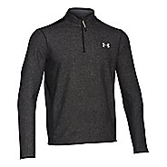 Mens Under Armour Coldgear Infrared Survival Fleece Long Sleeve Half Zip Technical Tops - Black M