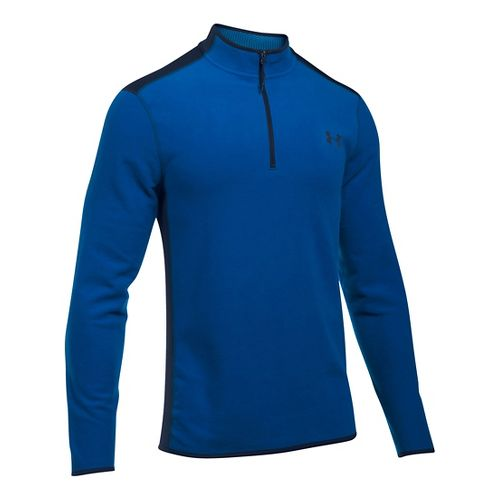 Mens Under Armour Coldgear Infrared Survival Fleece Long Sleeve Half Zip Technical Tops - ...