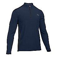 Mens Under Armour Coldgear Infrared Survival Fleece Long Sleeve Half Zip Technical Tops
