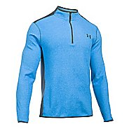 Mens Under Armour Coldgear Infrared Survival Fleece Long Sleeve Half Zip Technical Tops