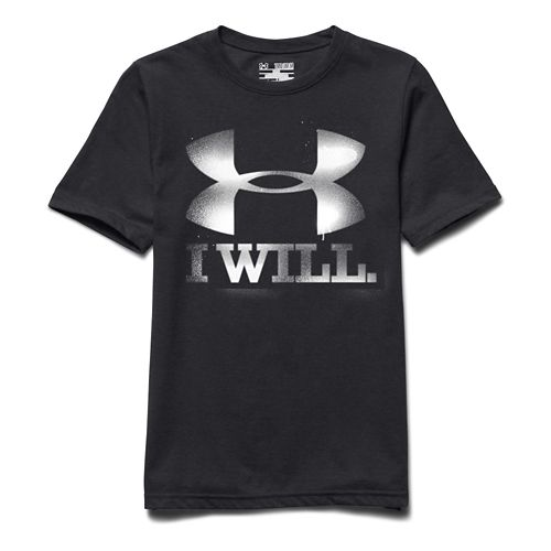 Kids Under Armour Contender Tee Short Sleeve Technical Tops - Anthracite YXS