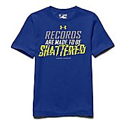Kids Under Armour Records Shattered Tee Short Sleeve Technical Tops