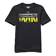 Kids Under Armour Compete Dominate Win Tee Short Sleeve Technical Tops