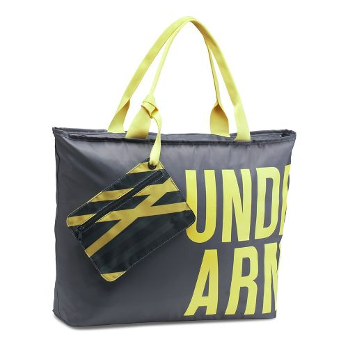 Womens Under Armour Big Word Mark Tote Bags - Rhino Grey/Yellow