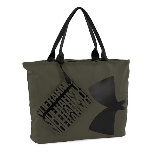 Womens Under Armour Big Logo Tote Bags - Gray/Pink Shock