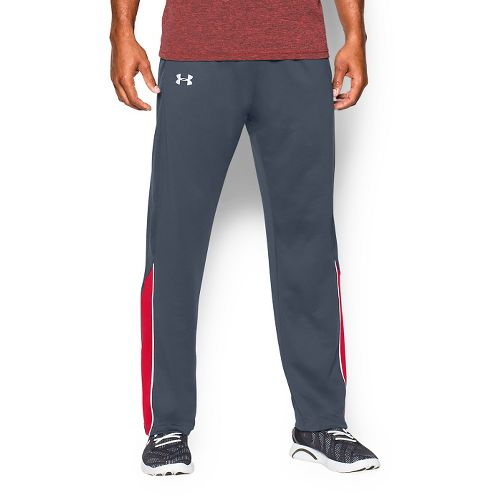 Mens Under Armour Coldgear Infrared Run Pant Full Length Tights - Wire/Red L
