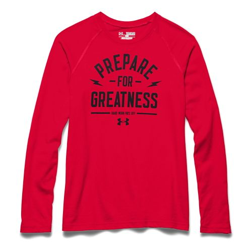 Kids Under Armour Prepare for Great Longsleeve Tee Short Sleeve Technical Tops - Risk Red ...