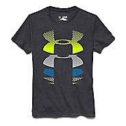Kids Under Armour Rising Logo Tee Short Sleeve Technical Tops