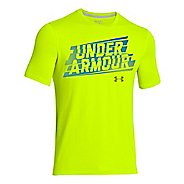 Kids Under Armour Linier Script Tee Technical Tops
