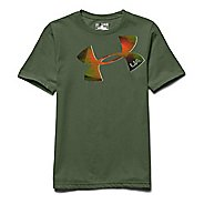 Kids Under Armour Logo Tee Short Sleeve Technical Tops
