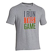 Kids Under Armour Game Tee Short Sleeve Technical Tops