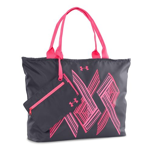 Womens Under Armour PIP Big logo Tote Bags - Grey/Cerise