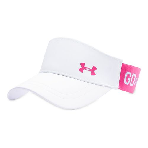 Womens Under Armour PIP Gotta Have It Visor Headwear - White/Cerise