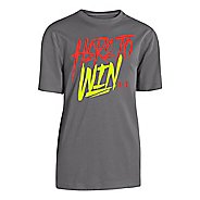 Kids Under Armour Here to Win Tee Short Sleeve Technical Tops