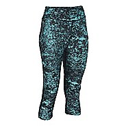 Womens Under Armour Heatgear Armour Printed Capri Tights