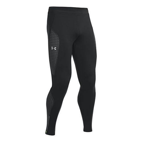 Mens Under Armour Coldgear Infrared Run Full Length Tights - Black S