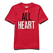 Kids Under Armour All Heart Tee Short Sleeve Technical Tops