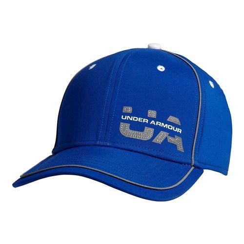 Mens Under Armour Flash Pop Stretch Fit Cap Headwear - Royal/Blue-Gray M/L