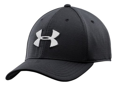 Mens Under Armour Blitzing II Stretch Fit Cap Headwear - Black M/L