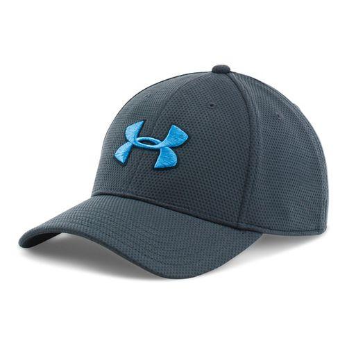 Mens Under Armour Blitzing II Stretch Fit Cap Headwear - Stealth Grey/Black M/L