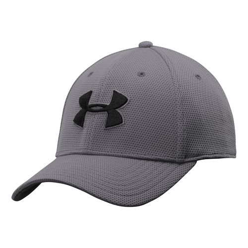 Mens Under Armour Blitzing II Stretch Fit Cap Headwear - Overcast/Graphite XL/XXL