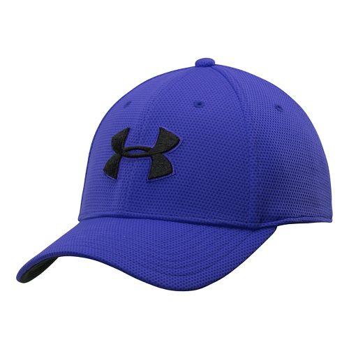Mens Under Armour Blitzing II Stretch Fit Cap Headwear - Royal XL/XXL