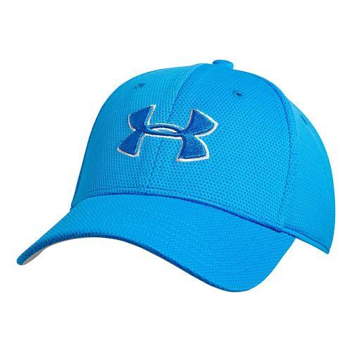 Mens Under Armour Blitzing II Stretch Fit Cap Headwear - Blue Jet/Blue-Gray L/XL