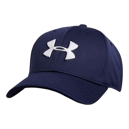Mens Under Armour Blitzing II Stretch Fit Cap Headwear - Midnight Navy M/L