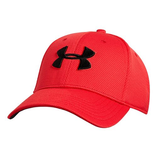 Mens Under Armour Blitzing II Stretch Fit Cap Headwear - Red M/L