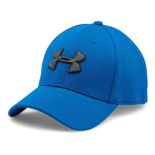 Mens Under Armour Blitzing II Stretch Fit Cap Headwear - Blue Marker/Black XL/XXL