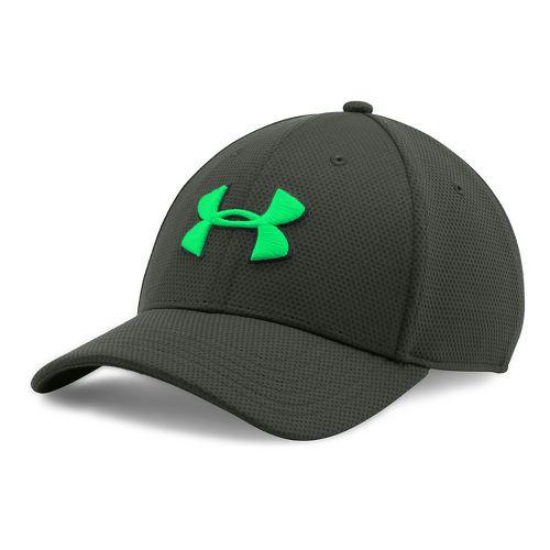 Mens Under Armour Blitzing II Stretch Fit Cap Headwear - Combat Green L/XL