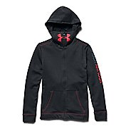 Kids Under Armour Warrior Terry Warm Up Hooded Jackets