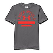 Kids Under Armour Classic Script Tee Short Sleeve Technical Tops