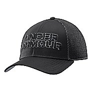 Mens Under Armour Word Mesh Stretch Fit Cap Headwear