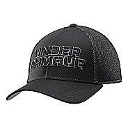 Mens Under Armour Word Mesh Stretch Fit Cap Headwear